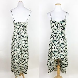VTG 90s Strappy Floral Print Dress High Low Hem